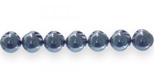 AE69 11mm Hallikas tumesinine ümar läbipaistmatu plasthelmes