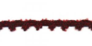 Kootud sakilise servaga kaunistuspael AA90/17.676 laiusega 2cm Lillakaspunane pruuniga