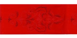 Luksuslik atlaspael sissekootud lillemustriga laiusega 94 mm, Art.94969, Punane