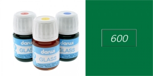 Klaasivärv Darwi Glass, 30ml, GREEN 600