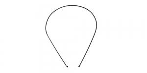 Metallist peavõru toorik must, 14 x 12 x 0,1cm, EK102A
