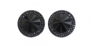 WD1 24mm Must, läbipaistmatu dekoraatiivkivi, 2tk
