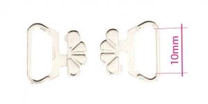 UC14, Metal Bra Lock, Bra fastener for 10mm strip, shiny chromium plating