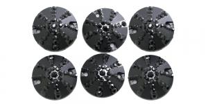 WD40 17mm Must, läbipaistmatu dekoraatiivkivi, 6tk