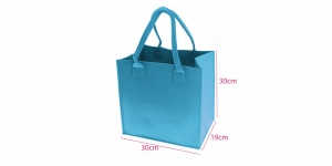 Vildist kott 30 cm x 30 cm x 19 cm, rõõmus helesinine