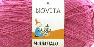 Villasisaldusega sokilõng Muumitalo, Novita, värv 720, Koduvana roosakaslilla