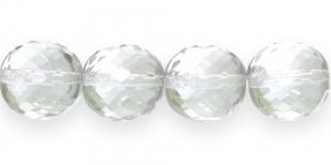 Ümar tahuline klaaspärl, Tšehhi, 20mm, Värvitu läbipaistev, LJ5