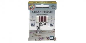 Иглы для домашних швейных машин для вышивания Embroidery, Organ №.75-90