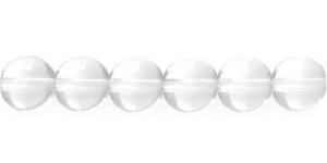 LN431 Ümar klaaspärl, Tšehhi, 12mm, Värvitu läbipaistev