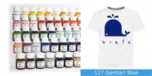 Fabric Paint Vielo, 50 ml #127 Gentian Blue