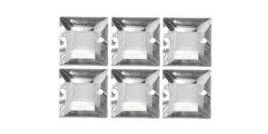 WR48 12mm Värvitud läbipaistvad õmmeldavad kristallid, 6tk