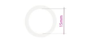 Кольцо бюстгальтер, изготовлена из металла, ø15мм, белый, UB17,