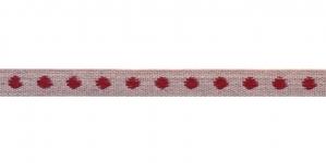 Puuvillane linalaadne kaunistuspael punase täpimustriga, S001-6R