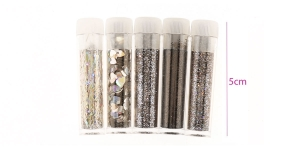 Glitter Powder, 5 tubes, Hobby & Crafting Fun 8601, PU13