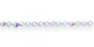 GR21 4mm Värvitud AB-kattega tahulised klaashelmed