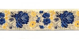 Lillemustriga kreemjas pael / Lace 3,2cm Värv:03, kreemjas, kirjude, kuldsete lilledega