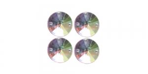 WO21 20mm Värvitu läbipaistev AB- kattega plastikkristall