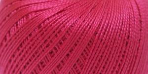 Pärlniit Perle 5 tikkimiseks ja heegeldamiseks; Värv 6328 (Helepunane) / Madame Tricote