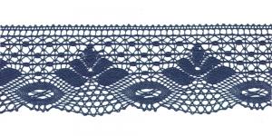 Puuvillane pits 3185-10 laiusega 7 cm, värv tumesinine
