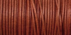 Nahkanyöri, aitoa nahkaa, ø3 mm, väri: tobacco, EG0044