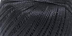 Pärlniit Perle 5 tikkimiseks ja heegeldamiseks; Värv 9999 (Must) / Madame Tricote