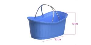 Plastikust korv, ostukorv, 12l, alumiiniumsangadega, lasuursinine, KL1544