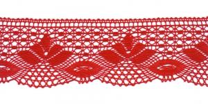 Puuvillane pits 3185-07 laiusega 7 cm, värv punane