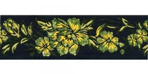 Must, Rohelise lillemustriga pael 48 mm, Art. 50096, V1