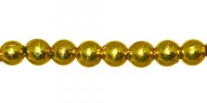 BJ6A 5mm Kuldkollane ümar plasthelmes