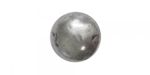 Tumedam antiikhõbedane, ümar, kannaga metallnööp, 18mm/28L, SFF136