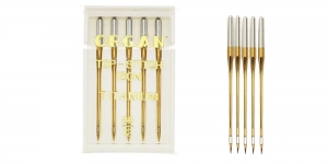Titanium covered Topstich Needles for Home Sewing Machines, Organ No.80 (12)