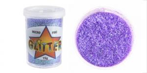 Litripuuder Micro Fine Glitter puistetopsikus, 15g, sirelililla mitmevärvilise helgiga Trimits UF22
