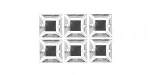 WH25 10mm Värvitu, läbipaistev kandiline akrüülkristall, 6tk