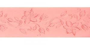 Jacquard satin ribbon, Art.64968, color No. Salmon