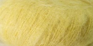 Ülipeen siidisisaldusega mohäärlõng Kidsilk Haze, Rowan, värv 663, heledam kollane