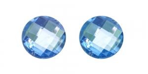 WK13 25mm Heledam sinine, läbipaistev dekoraatiivkivi, 2tk