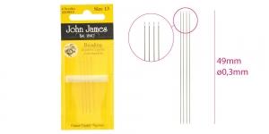 Pärlinõelad, 4tk, Nr.13, John James JJ10513