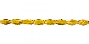 LN1144 12x7mm Kuldkollane, läbipaistev, pikuti auguga klaashelmes