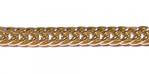 Alumiiniumkett Kuldne 15 x 12 x 3 mm, MA81