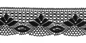 Puuvillane pits 3185-14 laiusega 7 cm, värv must