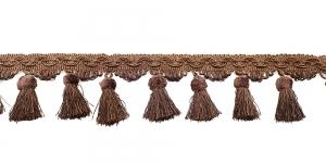 Soliidne kaunistuspael tuttidega, üldlaiusega 10cm, värv pruun