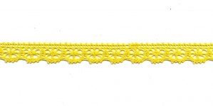 Puuvillane pits 3247-13 laiusega 1,5 cm, värv sidrunikollane