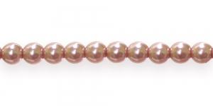 KK310 Ümarad pärlmutter klaaspärlid, Jablonex Tšehhi,6mm Vanaroosa