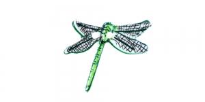 Kiilikujuline, rohelisekirju, kahe auguga plastiknööp 23x20mm, SDD19
