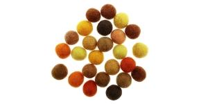Handmade Felt Ball 25 pcs set, ø15 mm - 17 mm, Nepal wool, Habico HF118_YELLOWS