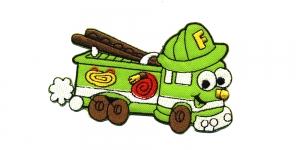 AB64 Roheline tuletõrjeauto Green Fire Engine 10 x 6,5 cm