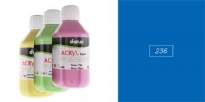 Akrüülvärv, läbipaistmatu, 250ml, Darwi Acryl Opaque, DARK BLUE 236