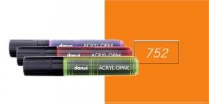 Akrüülvärviga viltpliiats, katva värviga, 15mm, 25ml, Darwi Acryl Opaque, ORANGE 752