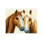 Tikkimiskomplekt 2002/75.305 sõbralikud hobud firmalt Vervaco