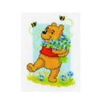 Tikkimiskomplekt Puhh lillesülemi ja mesilastega / Vervaco (Belgia)  PN-0145013